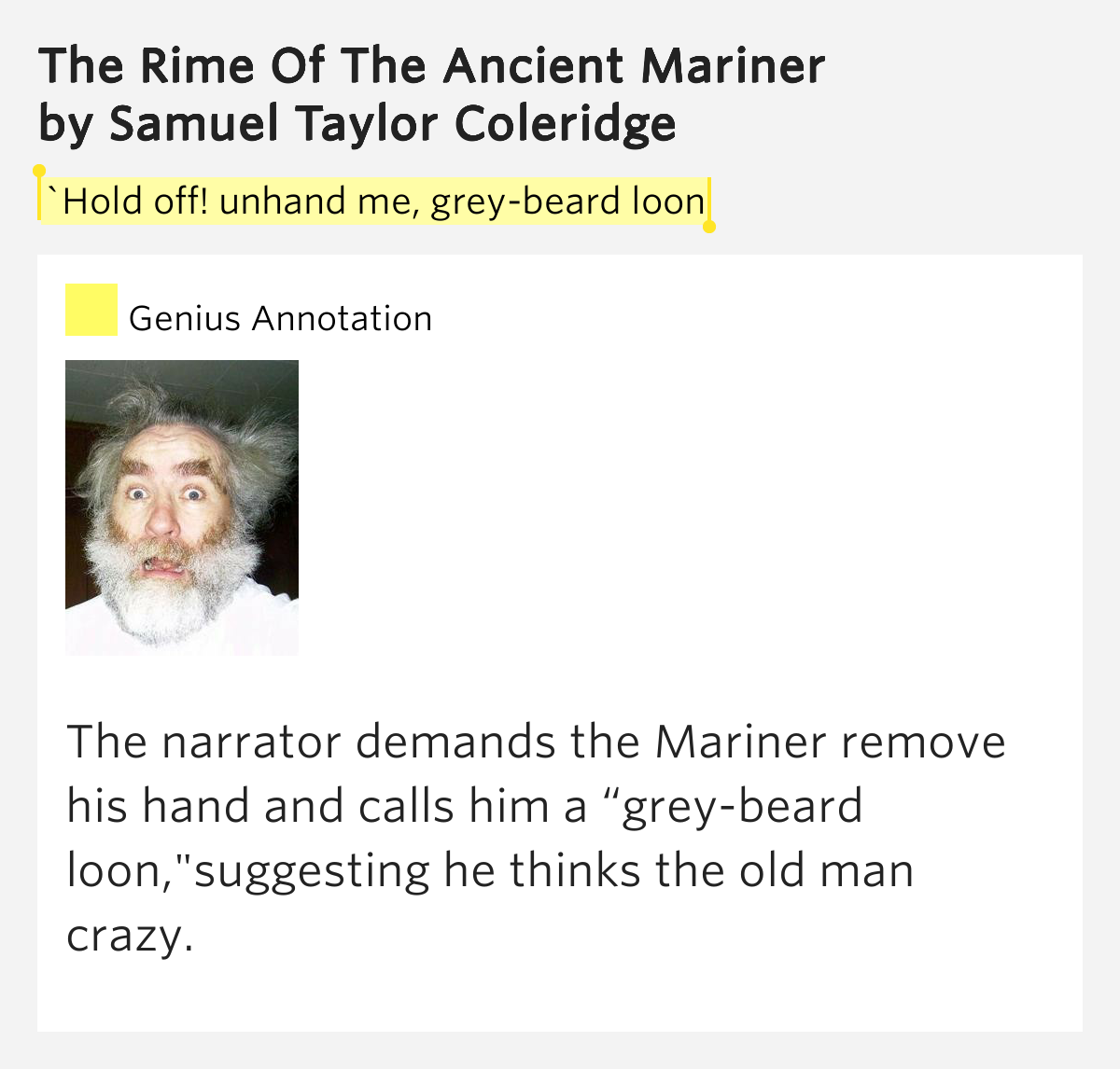samuel coleridge the rime of the ancient mariner essay The rime of the ancient mariner study guide contains a biography of samuel coleridge, literature essays, a complete e-text, quiz questions, major themes, characters.