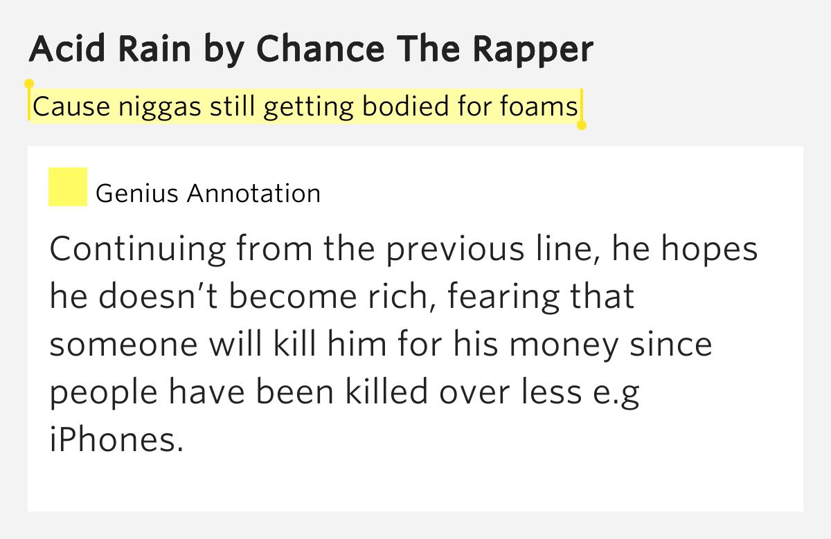 Chance the Rapper - Acid Rain Lyrics | Musixmatch