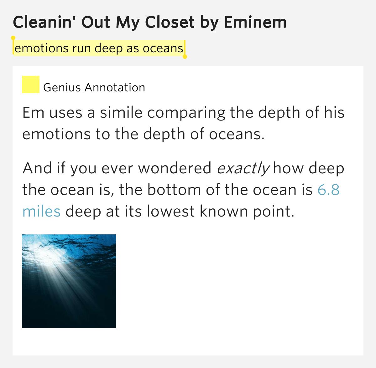 Lyrics of cleanin out my closet