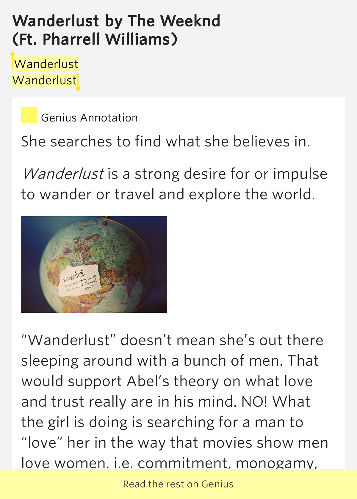 wanderlust lyrics the weeknd