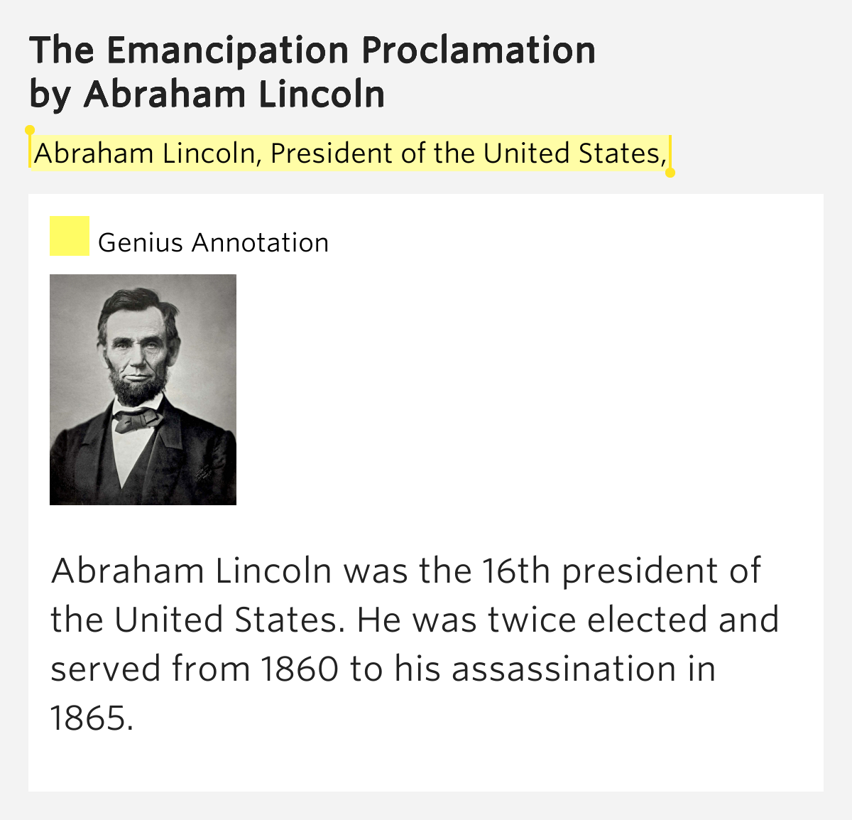 a biography of abraham lincoln the president of the united states Lucidcafé's profile of abraham lincoln  than a year of formal education to become the 16th president of the united states,  biography - abraham lincoln:.