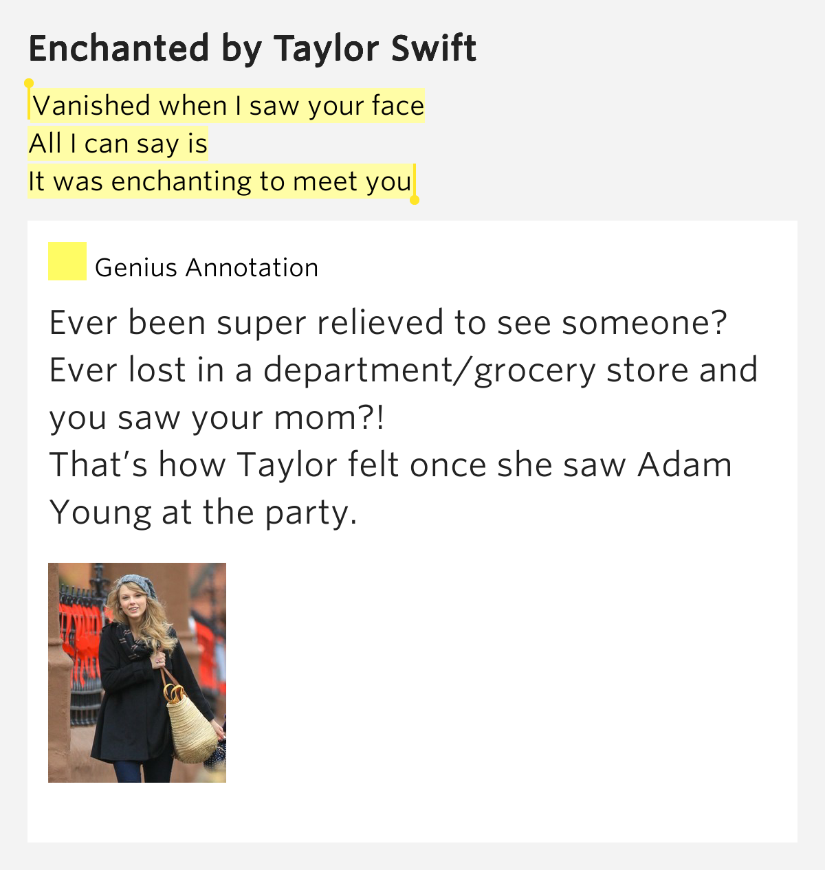 enchanted to meet you taylor swift lyrics