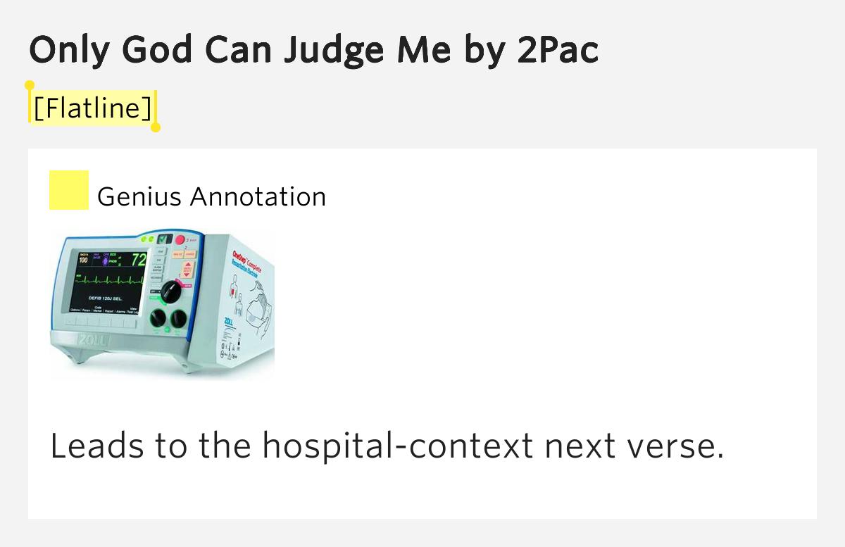 Only God Can Judge Me Lyrics