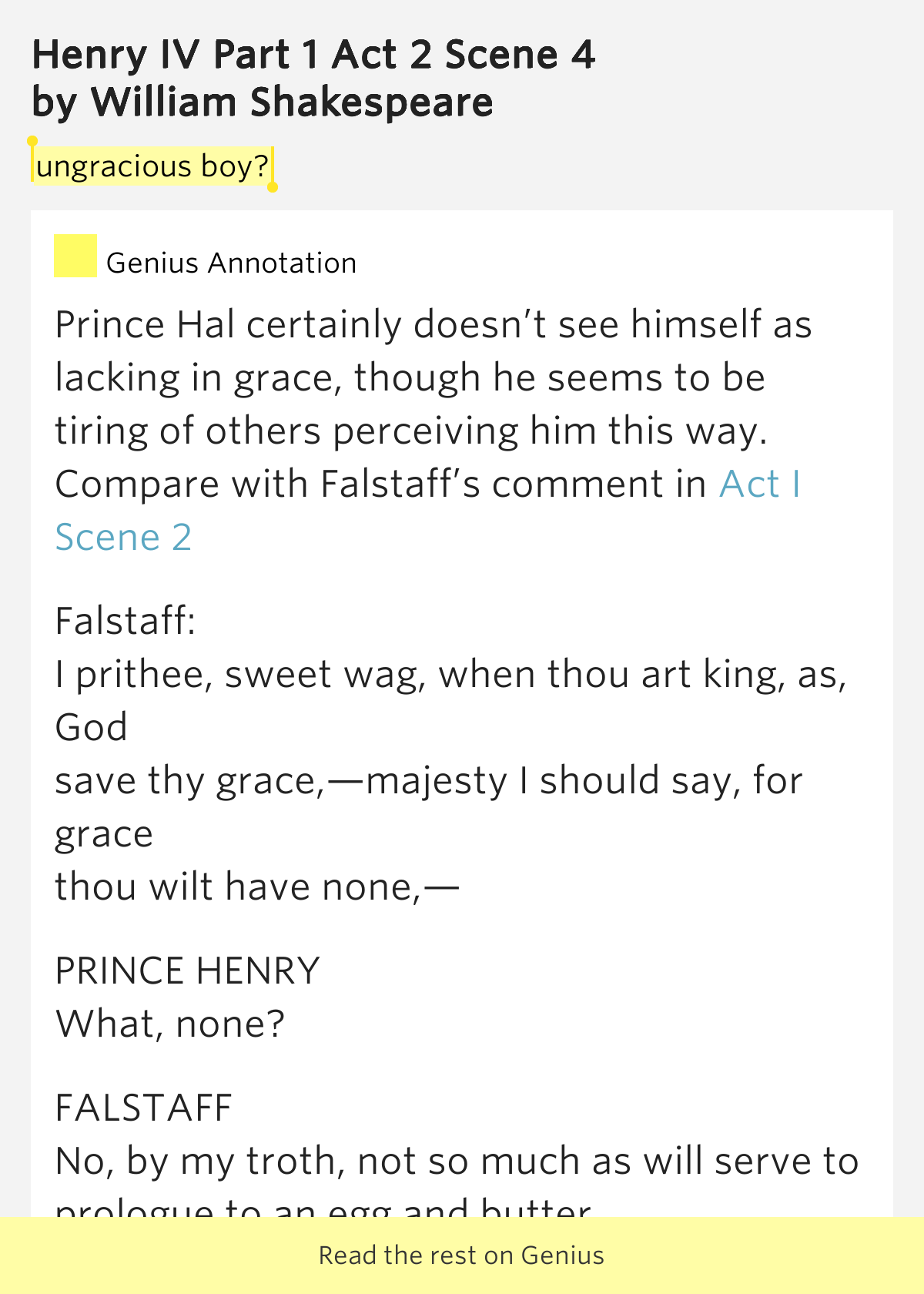 prince hal and falstaff essay