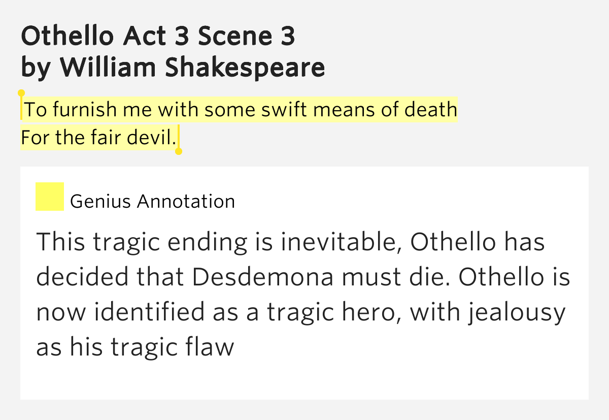 an overview of othello a tragic hero by william shakespeare Othello: a level york notes william shakespeare overview the tragic denouement: synopsis act i othello: the hero driven by love.