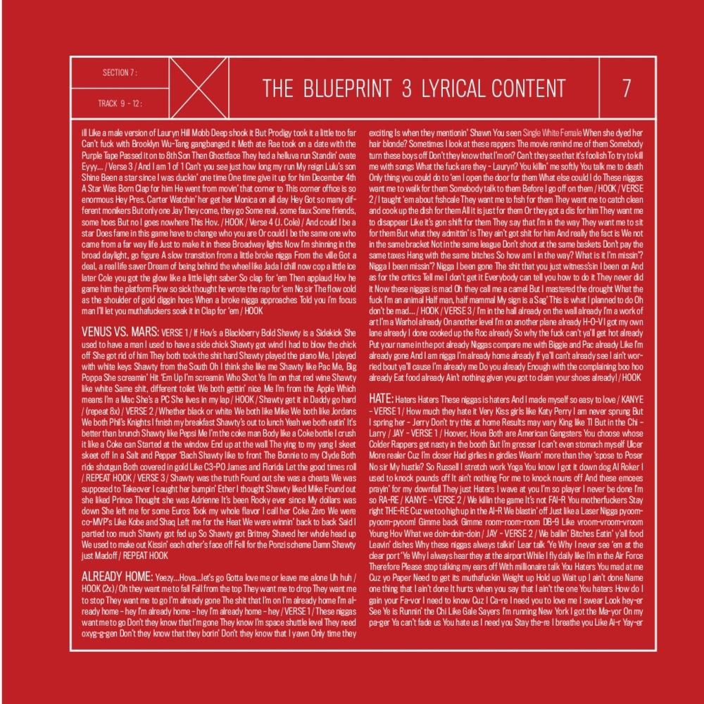 Jay z the blueprint 3 tracklist album art genius the blueprint 3 jay z the blueprint 3 booklet genius malvernweather Choice Image