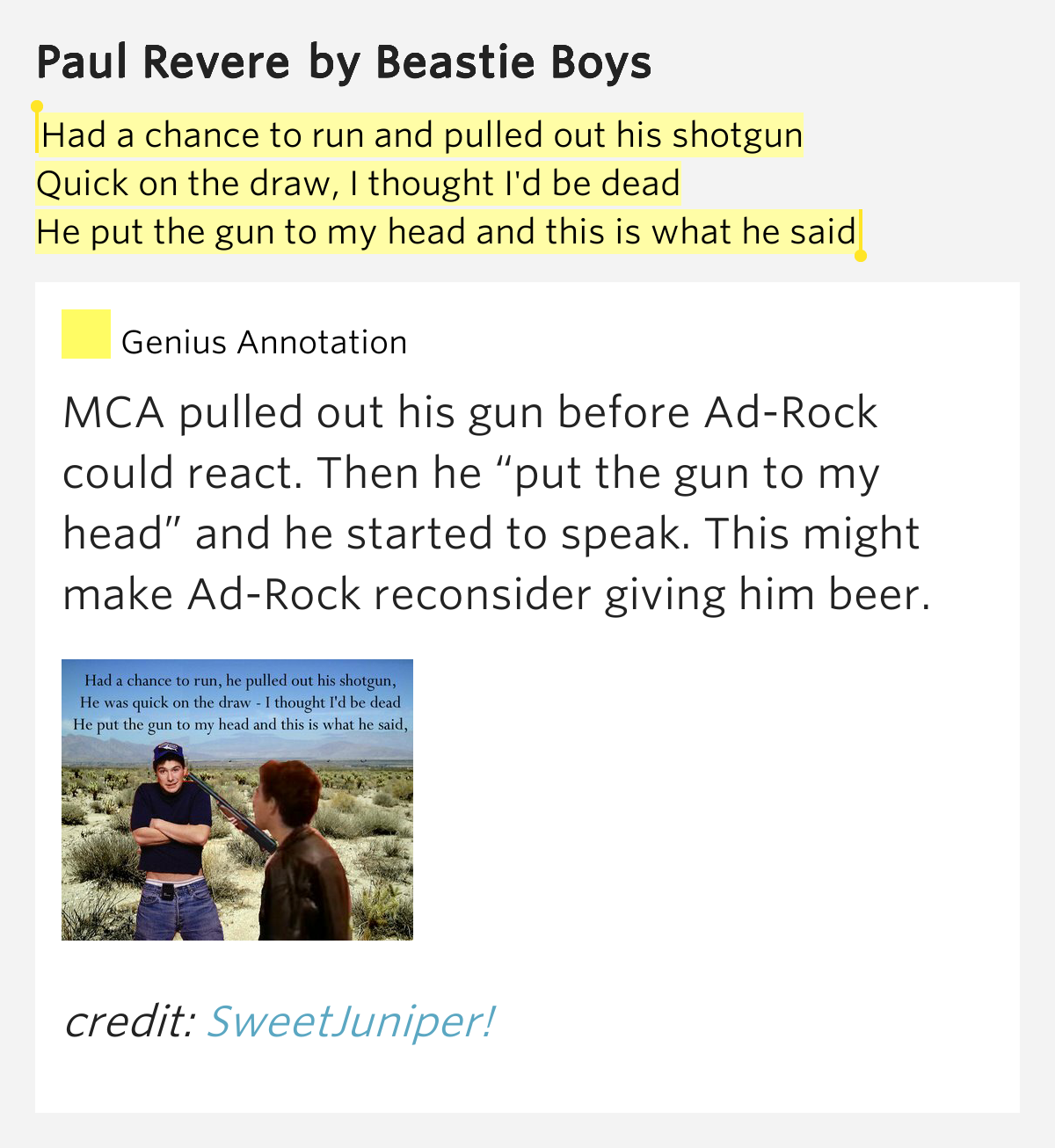 Had a chance to run and pulled out his shotgun /.. - Paul ...
