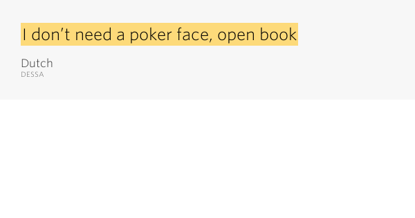 Meaning of the term poker face