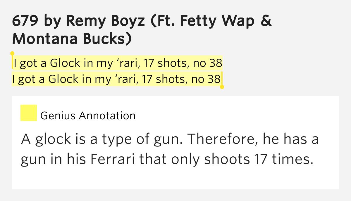 Got a glock in my rari 17 shots no 38 i got a glock 679