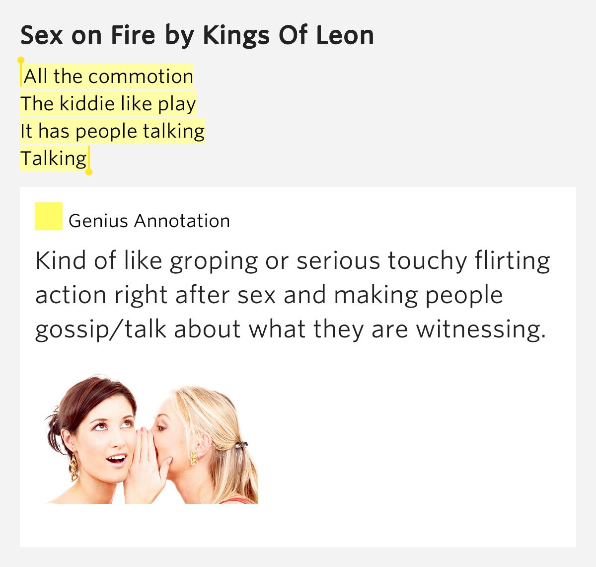 Kings of lion секс в огне перевод текста