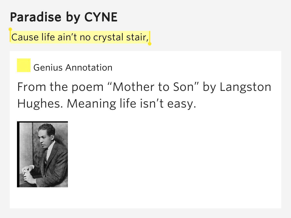 "Analysis of ""Mother to Son"" Poem by Langston Hughes"