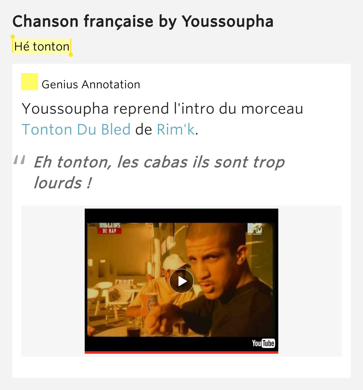 Chanson Française By Youssoupha