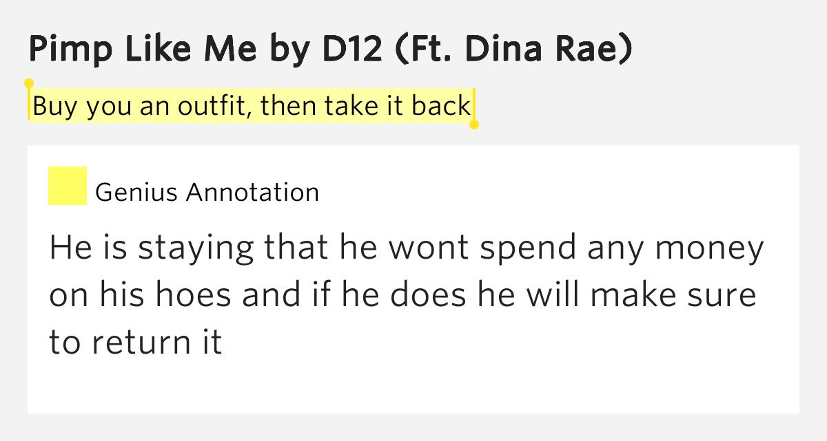 D12 - Pimp Like Me (Lyrics) - YouTube