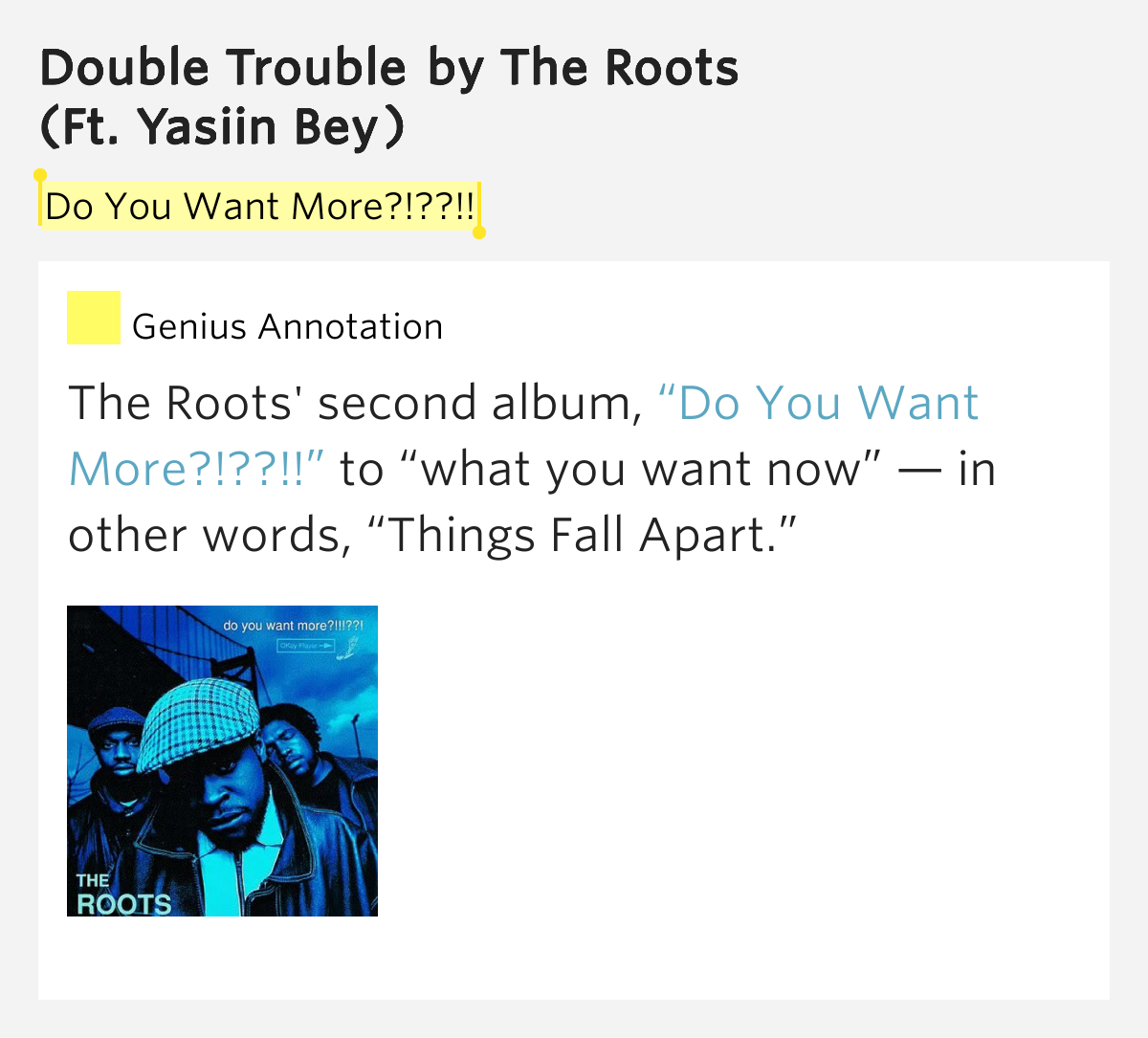 Double Trouble By The Roots