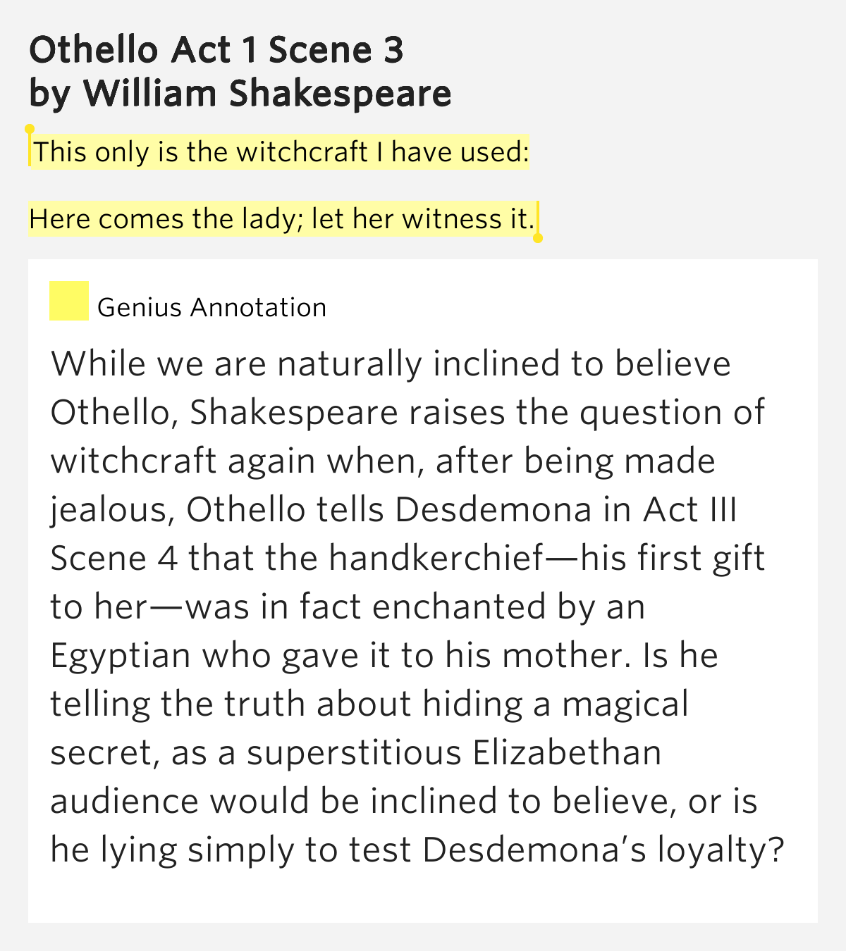 othello how is desdemona merely Or, is this merely an excuse to go after him in other words, does iago say all of this in order to manipulate roderigo (roderigo, as we soon learn, is completely envious of othello for marrying desdemona.