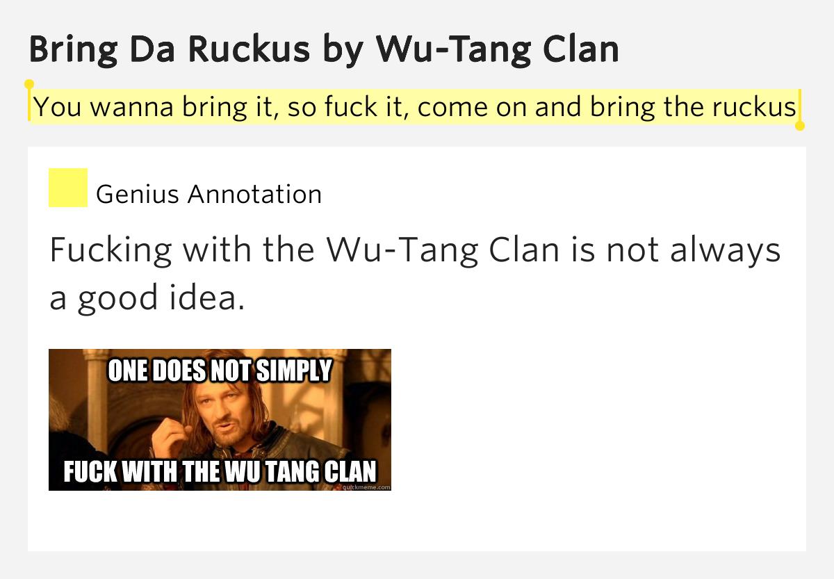 tang clan bring ruckus lyrics