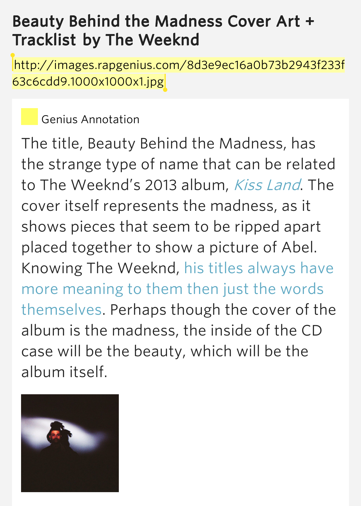 the meaning behind the madness Beauty behind the madness is the second studio album by canadian singer the  weeknd it was released on august 28, 2015, by xo and republic records.