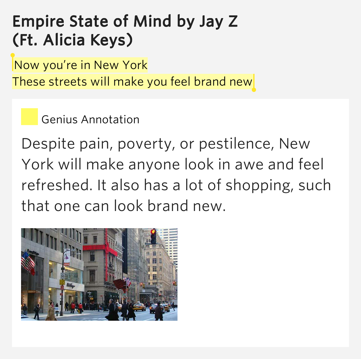 Empire State Of Mind Pt 2 Alicia Keys: Now You're In New York / These Streets..