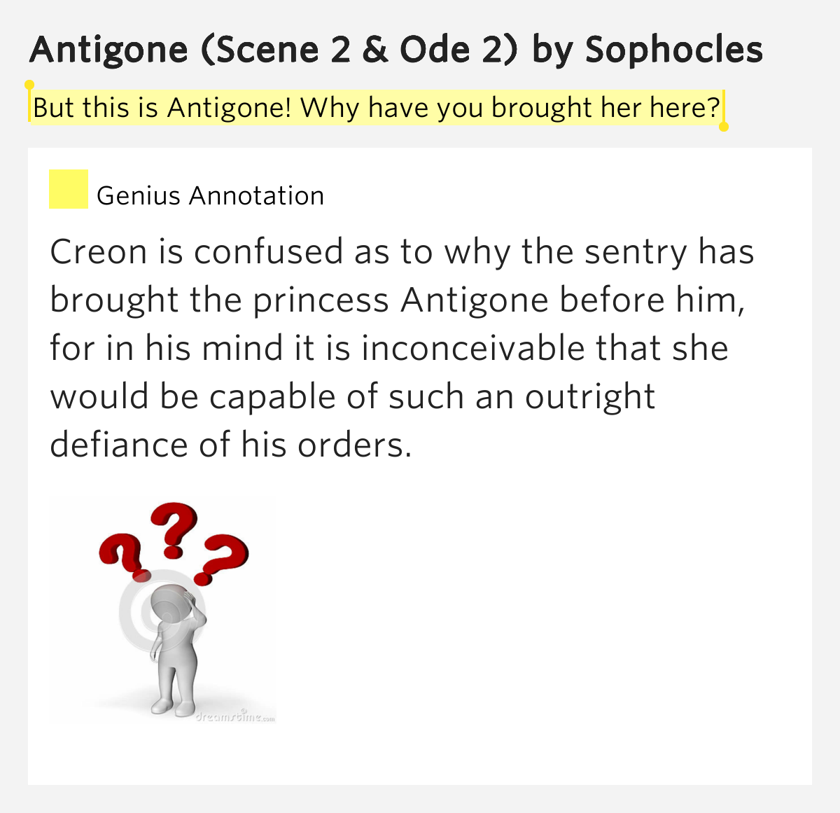 a comparison of antigone and creon in antigone by sophocles Conflicting values in antigone in the play antigone by sophocles, creon and antigone have distinct conflicting values.