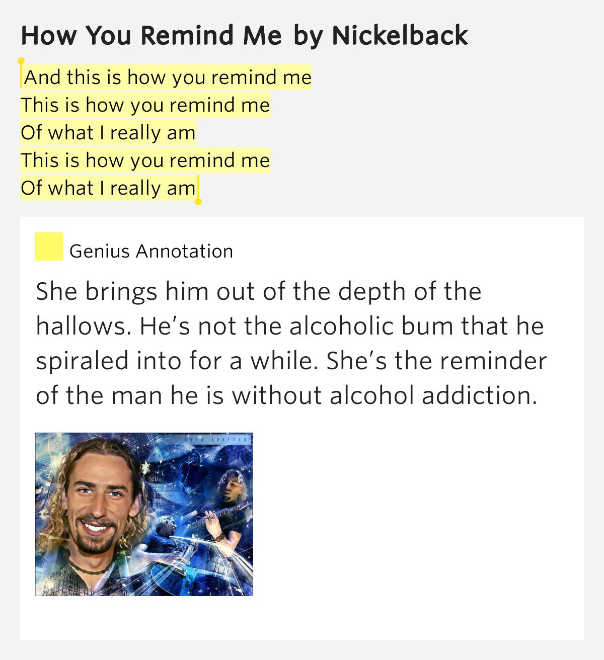 Nickelback - This Is How You Remind Me Lyrics | MetroLyrics