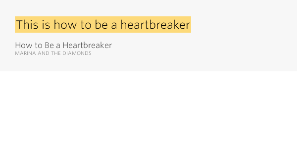 This is how to be a heartbreaker – How to Be a Heartbreaker