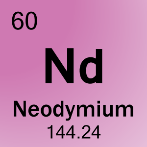 60 Neodymium Nd on Period 5 Element