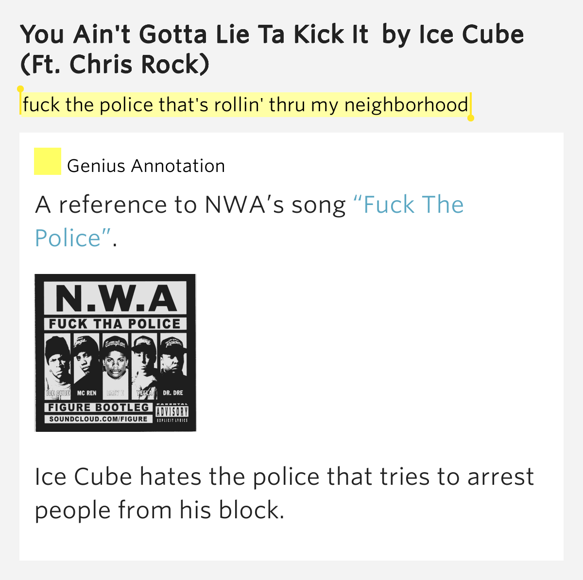 ice cube fuck you song
