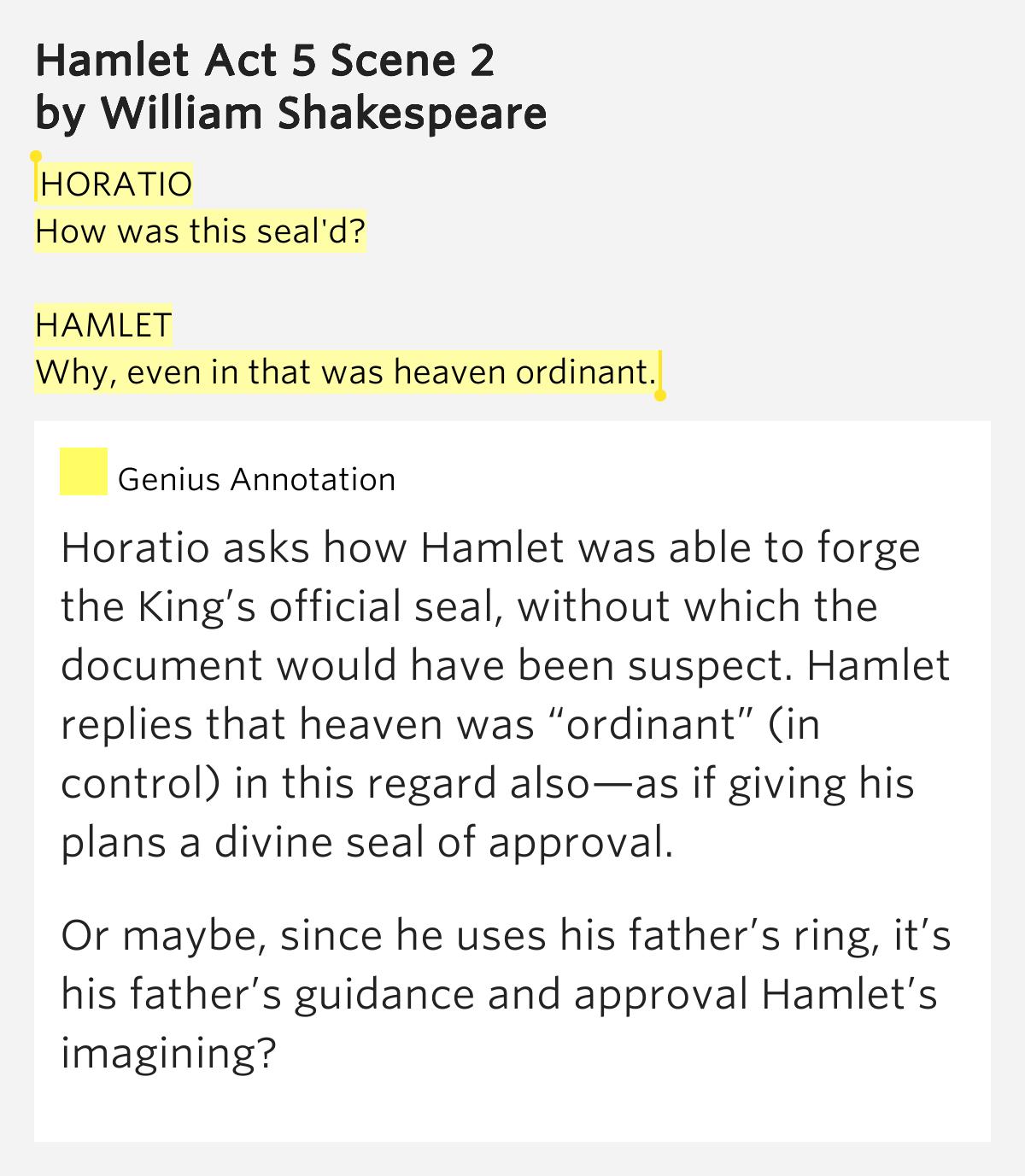 Hamlet summary