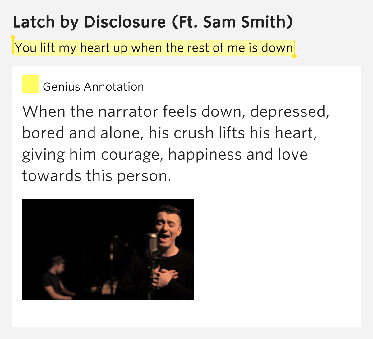 latch disclosure lyrics - photo #29