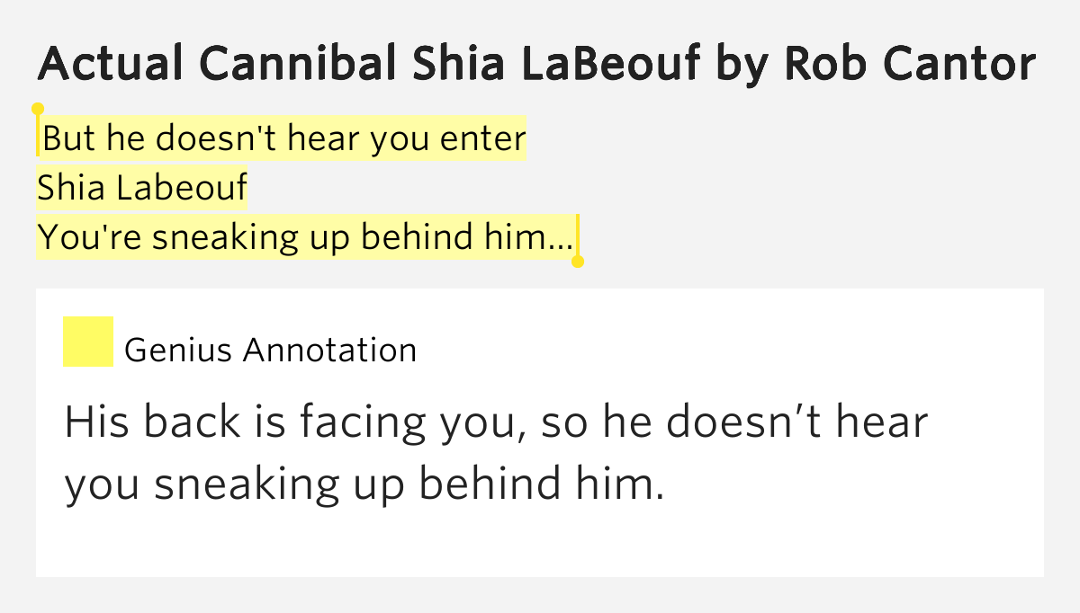 What Does Actual Cannibal Shia LaBeouf Mean ...