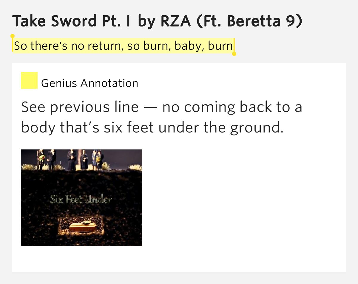 Burn baby lyrics