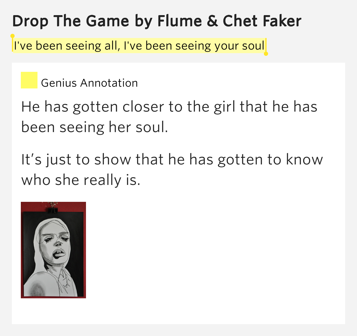 CHET FAKER & FLUME : Drop The Game lyrics