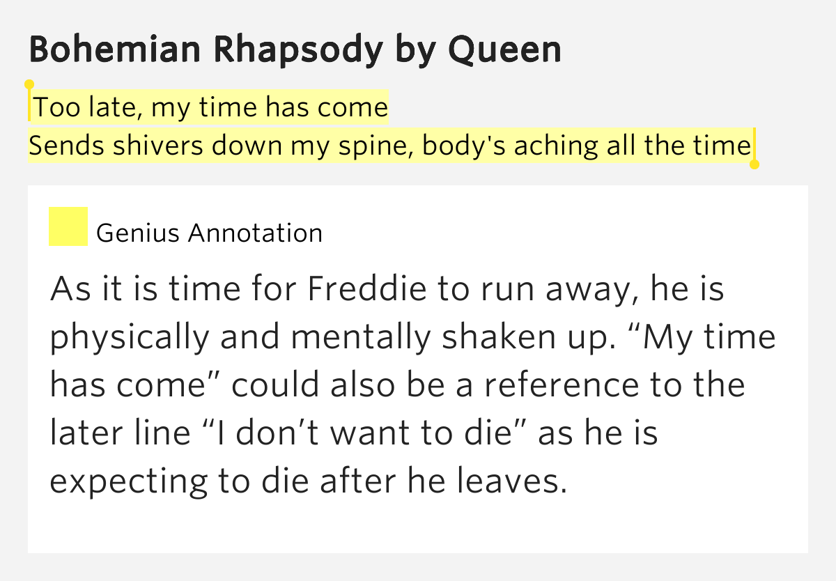 bohemian rhapsody lyrics meaning Meaning of bohemian rhapsody keyword after analyzing the system lists the list of keywords related and the list of websites with  meaning of bohemian rhapsody lyrics.