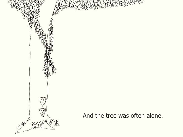 Shel Silverstein Illustrations: And The Tree Was Often Alone.