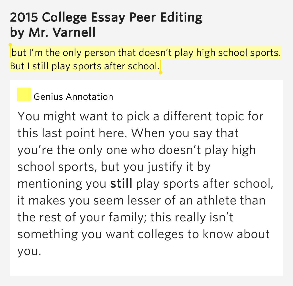 essays on competition in sports College athletics or college sports encompasses non-professional, collegiate and university-level competitive sports and games requiring physical skill, and the systems of training that prepare athletes for competition performance.