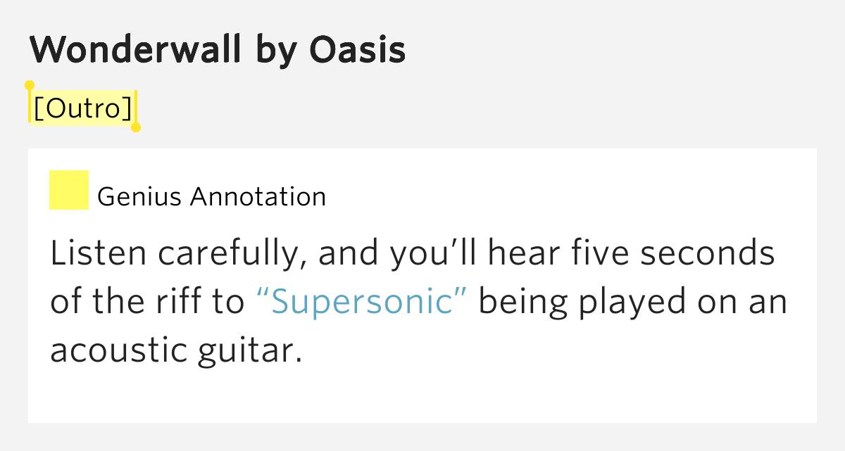 Oasis Wonderwall Lyrics Genius Lyrics Inducedfo
