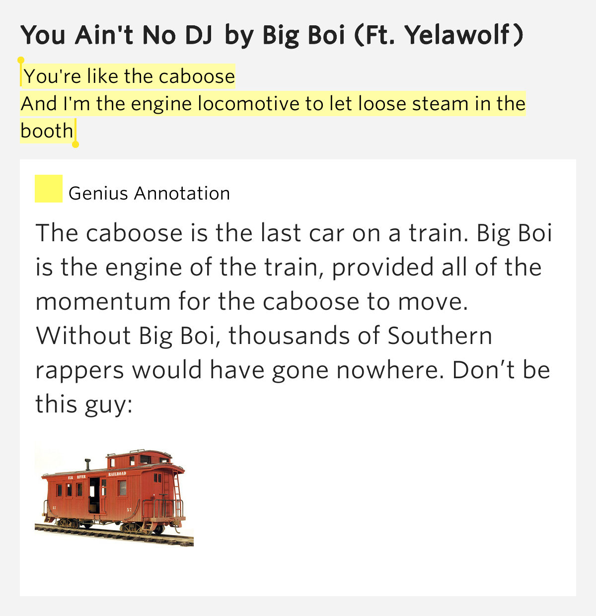 Loose Caboose Meaning