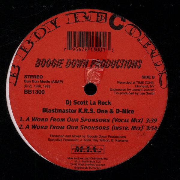 DJ Scott La Rock Boogie Down Productions The Bridge Is Over