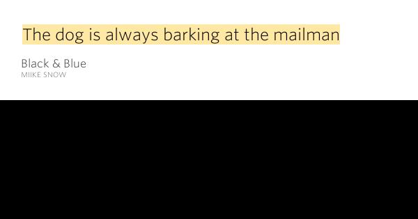 Black Dog Barking Lyrics