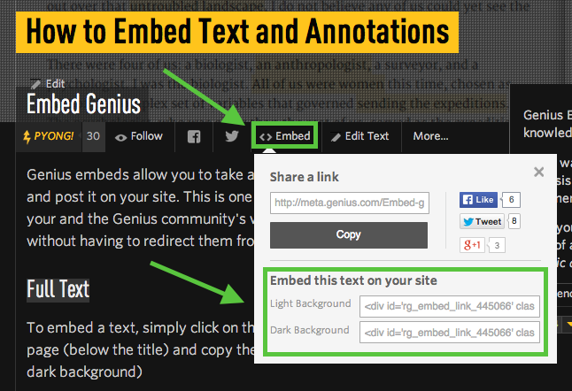 Embed genius how to embed text and annotations genius for Embed a forum into your website