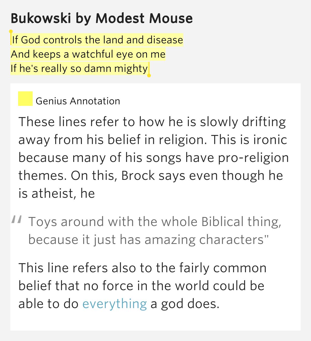 Asshole modest mouse lyrics