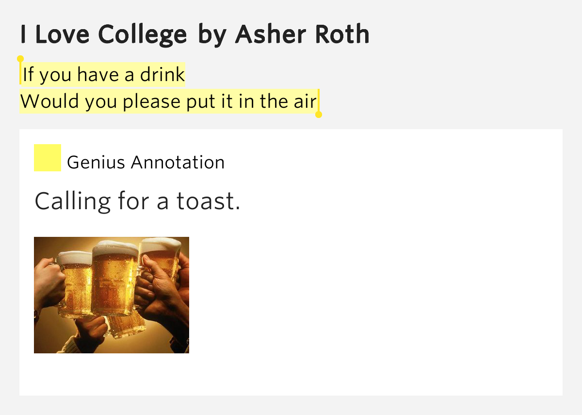 Asher Roth : You lyrics