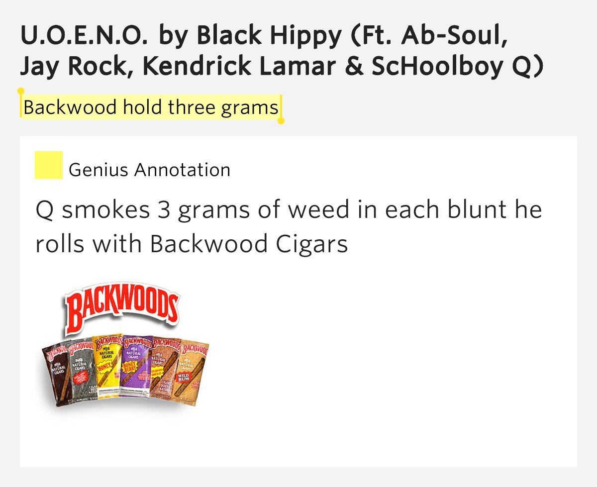 backwood hold three grams � uoeno lyrics meaning