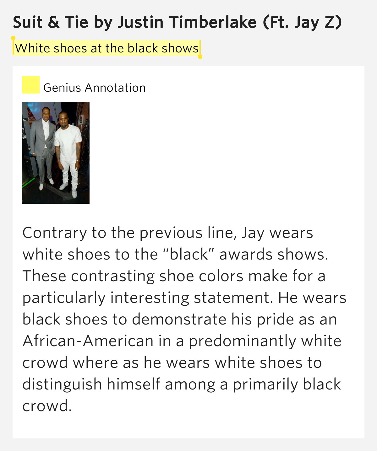 white shoes at the black shows suit tie by justin