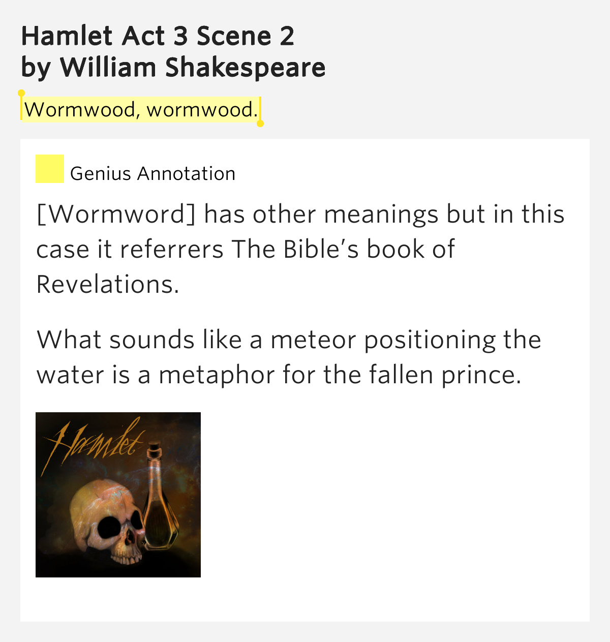 hamlet act 3 scene 2 2 essay Hamlet: act 3 - quiz for edhelpercom subscribers essay questions or writing prompts number of writing prompts check all - clear all selected writing prompts.