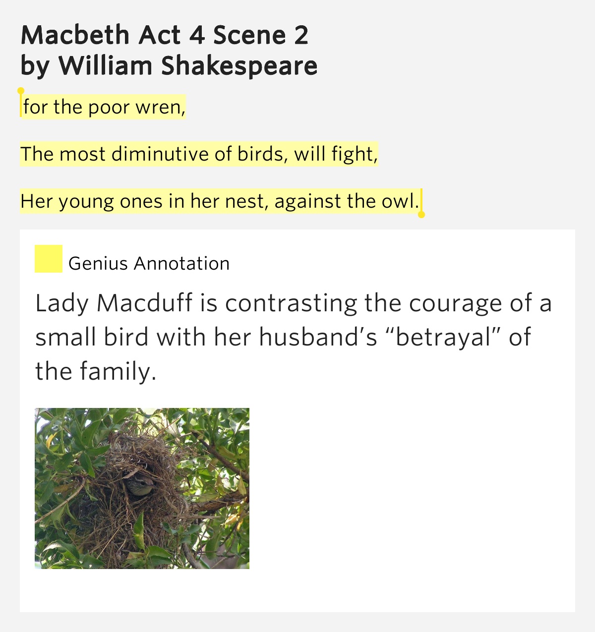 macbeth act iv lines 111 134 Macbeth act four name: 1 when macbeth returns to the witches in scene 1, what does this show us about him 2 chart the apparitions (visions) that appear before macbeth in scene 1.