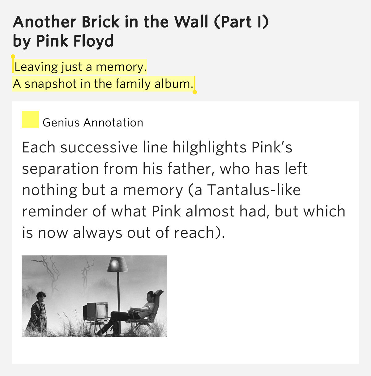 Pink Floyd-Another Brick In The Wall Part 1 and 2- Lyrics ...
