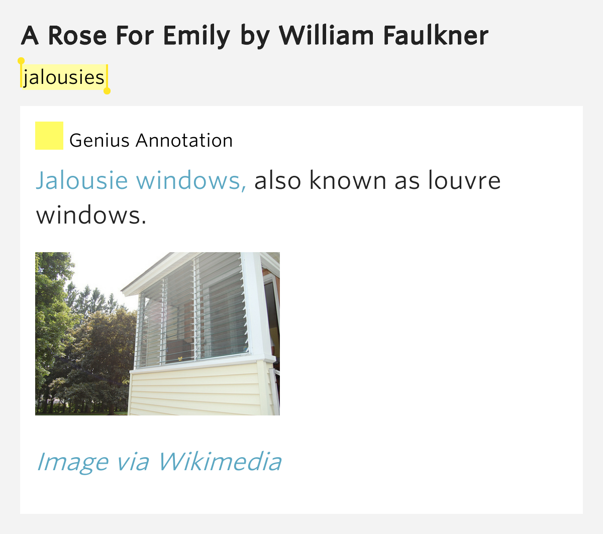 a rose for emily sweat comparison A rose for emily is a short story of isolation, loss, gossip, the conflict of old and new, and evens the possibility of murder the yellow wallpaper is partly autobiographical and illustrates the fight for selfhood by a woman in an oppressed environment.