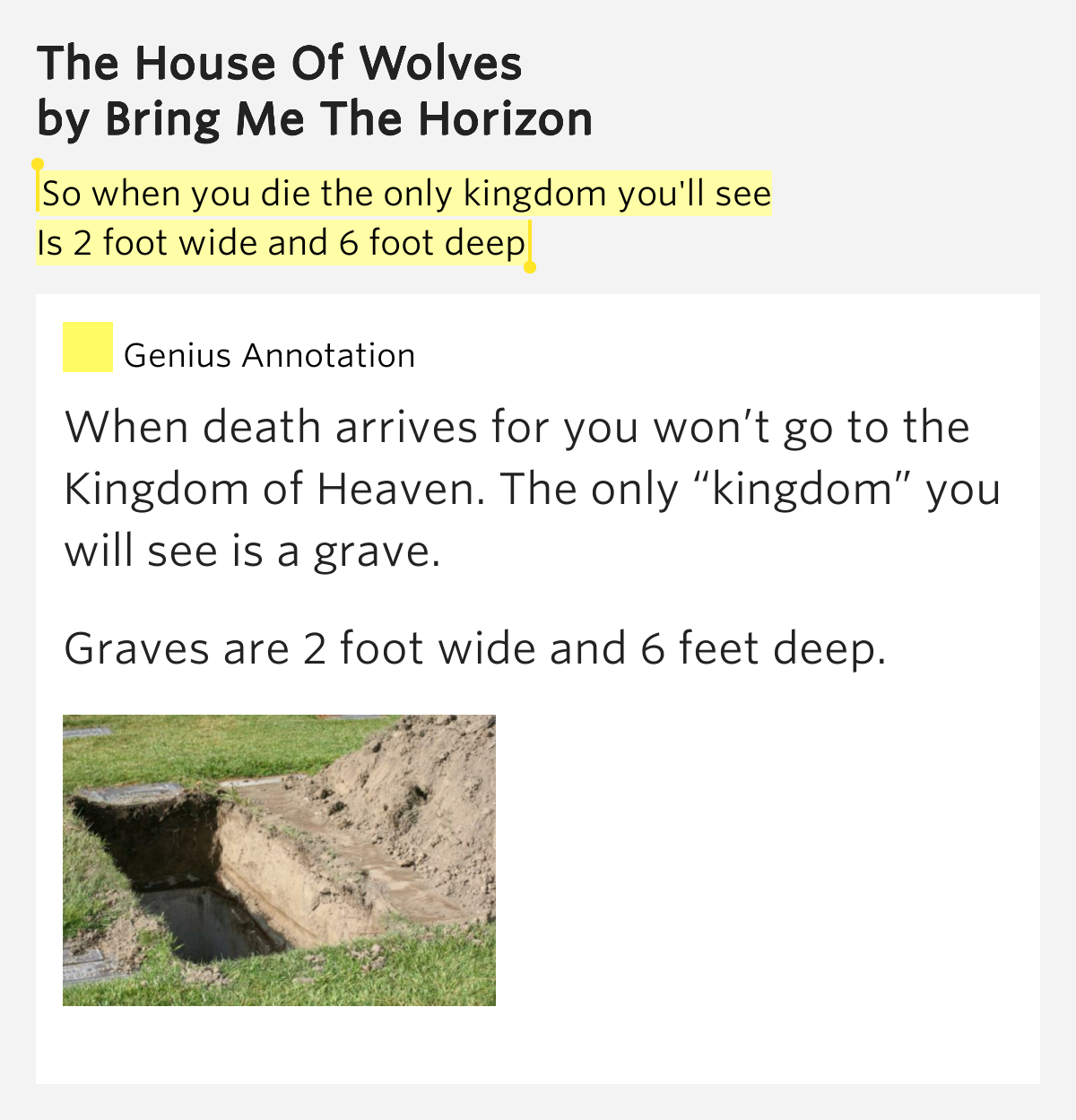So when you die the only kingdom you'll see.. – The House ...
