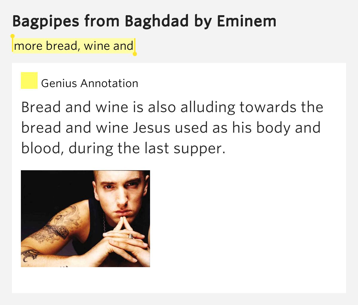 Letra Traducida de Eminem - Bagpipes From Baghdad